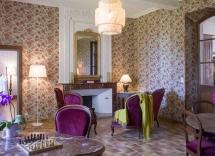 petit salon gîte de Bousquetou