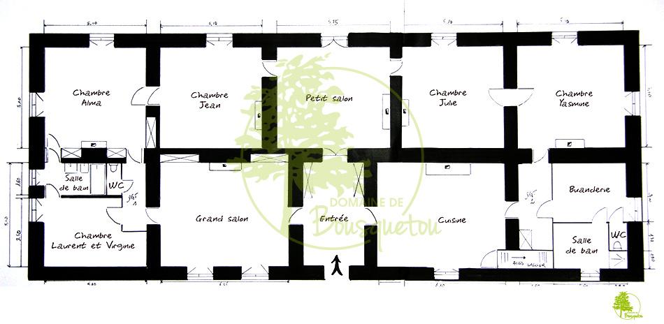 Plan du Domaine de Bousquetou